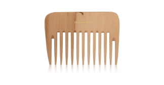 wooden curling comb
