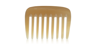horncomb for curls extremely wide-toothed