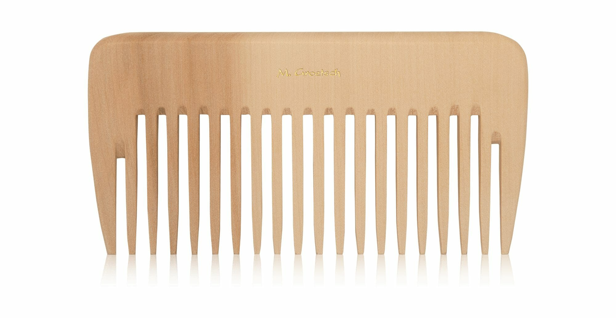 curling comb made of wood