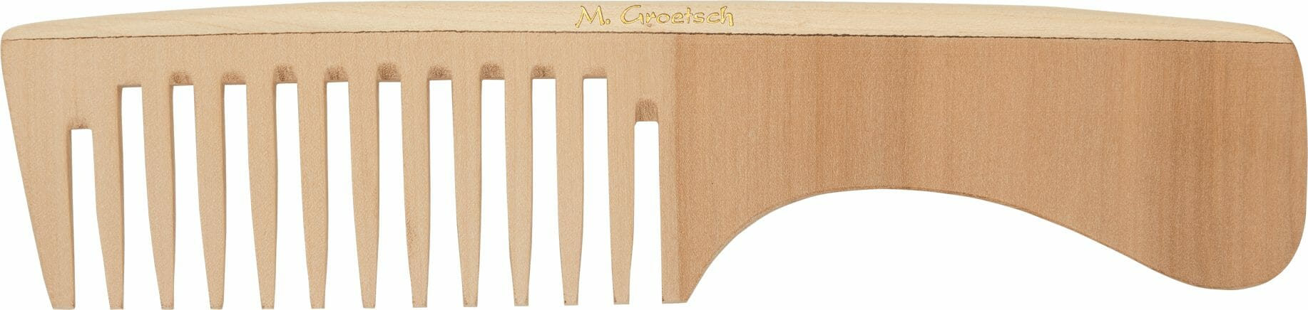 wooden handle comb extrawide toothed